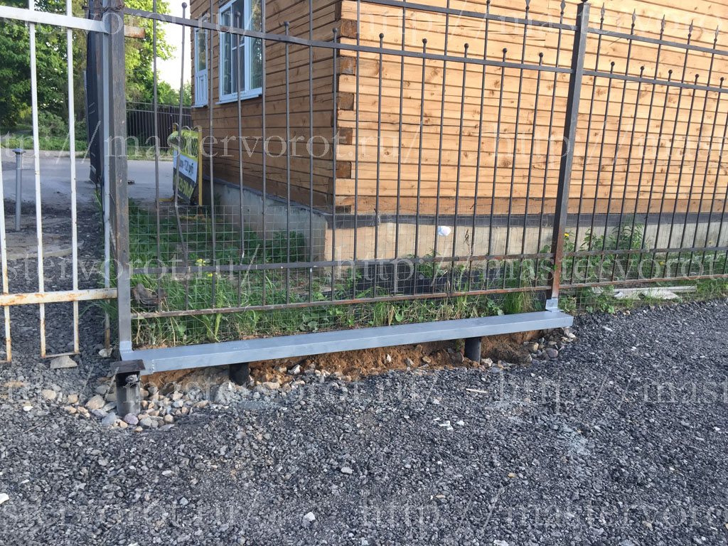 свайно винтовой фундамент для ворот